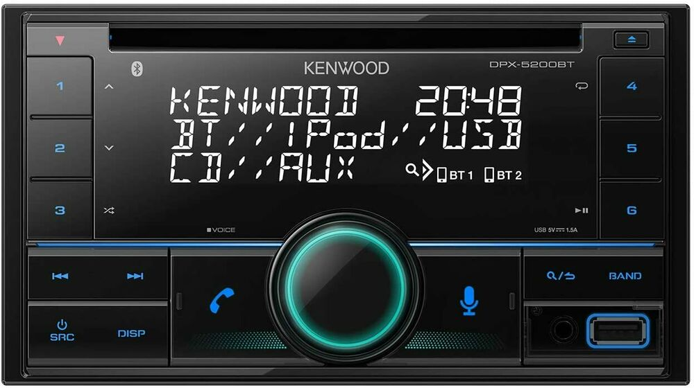 kenwood dpx 5000bt doppel din bluetooth usb cd autoradio. Black Bedroom Furniture Sets. Home Design Ideas