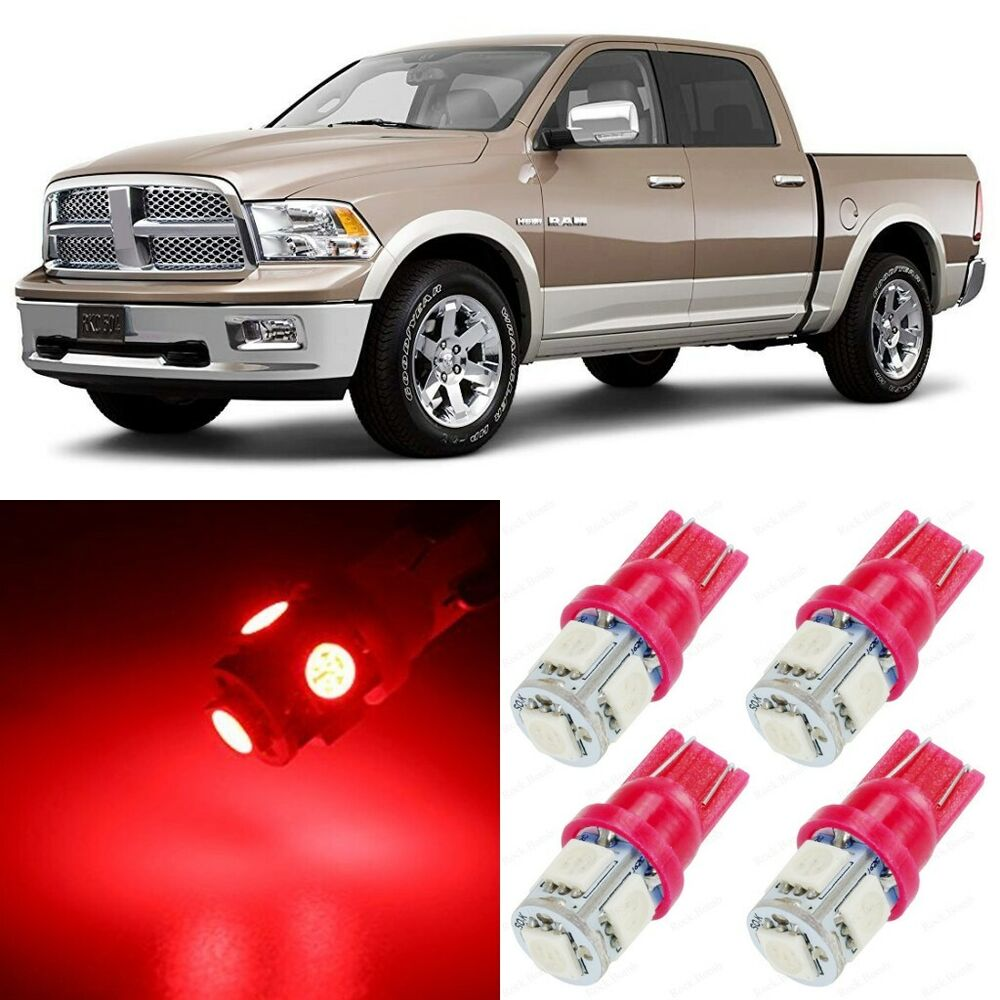 10 X Ultra Red Led Interior Lights Package For 2002 2010