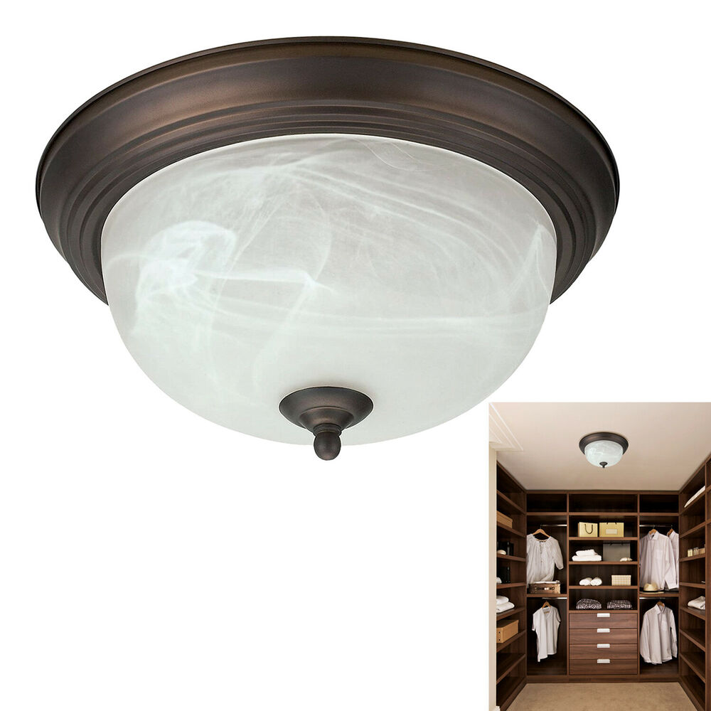 Oil Rubbed Bronze Flush Mount Ceiling Light Fixture 13
