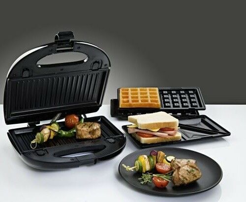kontaktgrill grill sandwich toaster tischgrill antihaft beschichtet waffeleisen ebay. Black Bedroom Furniture Sets. Home Design Ideas
