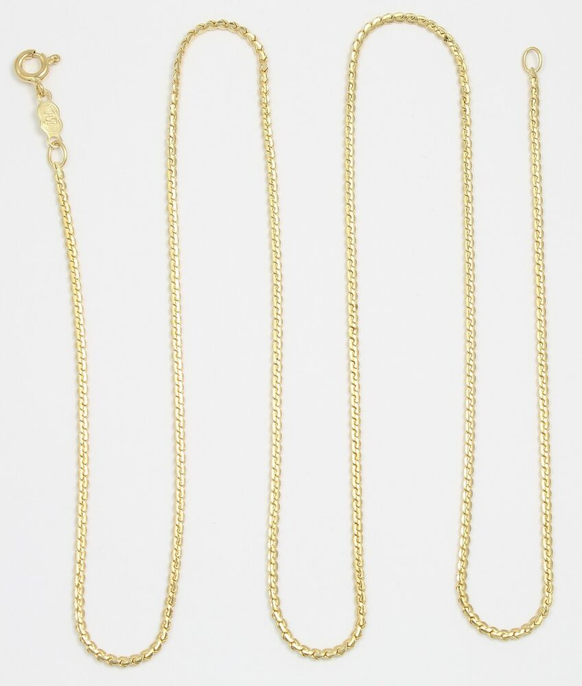 18k Yellow Gold Serpentine Chain Link Necklace  Ebay. Design Gold Necklace. Purple Heart Bracelet. Old Gold Chains. Husband And Wife Wedding Rings. Blue Diamond Accent Engagement Rings. Leather Necklace. Sterling Silver Bands. Custom Necklace