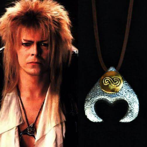 David bowie labyrinth goblin king jareth pendant necklace movie david bowie labyrinth goblin king jareth pendant necklace movie replica prop ebay mozeypictures Image collections