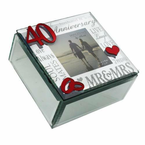 Ruby Wedding Gift Box : 40th Ruby Wedding Anniversary Gift Trinket Box With mirror WG61640 ...