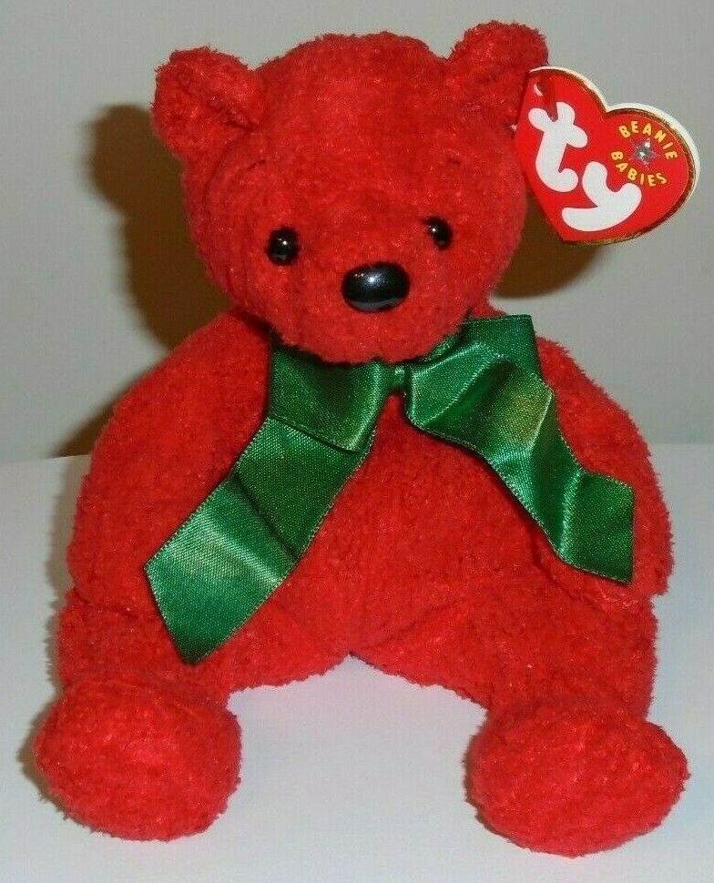Details about Ty Beanie Baby ~ MISTLETOE the Holiday Red Bear ~ MINT with  MINT TAGS ~ RETIRED f9e5595fa63