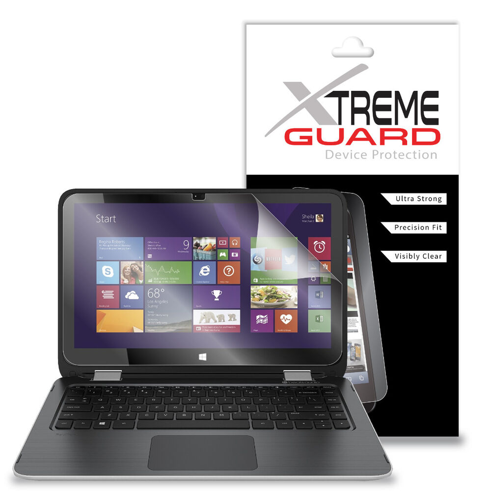 genuine xtremeguard lcd screen protector cover for hp pavilion x360 13 3 2015 ebay. Black Bedroom Furniture Sets. Home Design Ideas