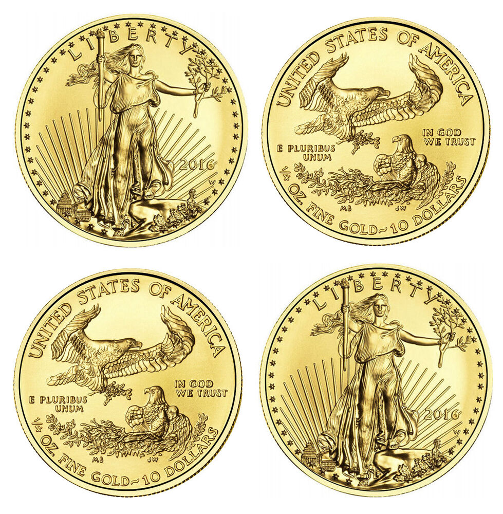 2016 1 4 Oz Gold American Eagle Coins 1 Oz Total Weight