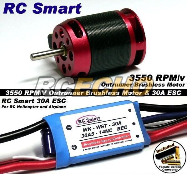 Rc Model 3550 Kv Outrunner Brushless Motor R C 30a Esc