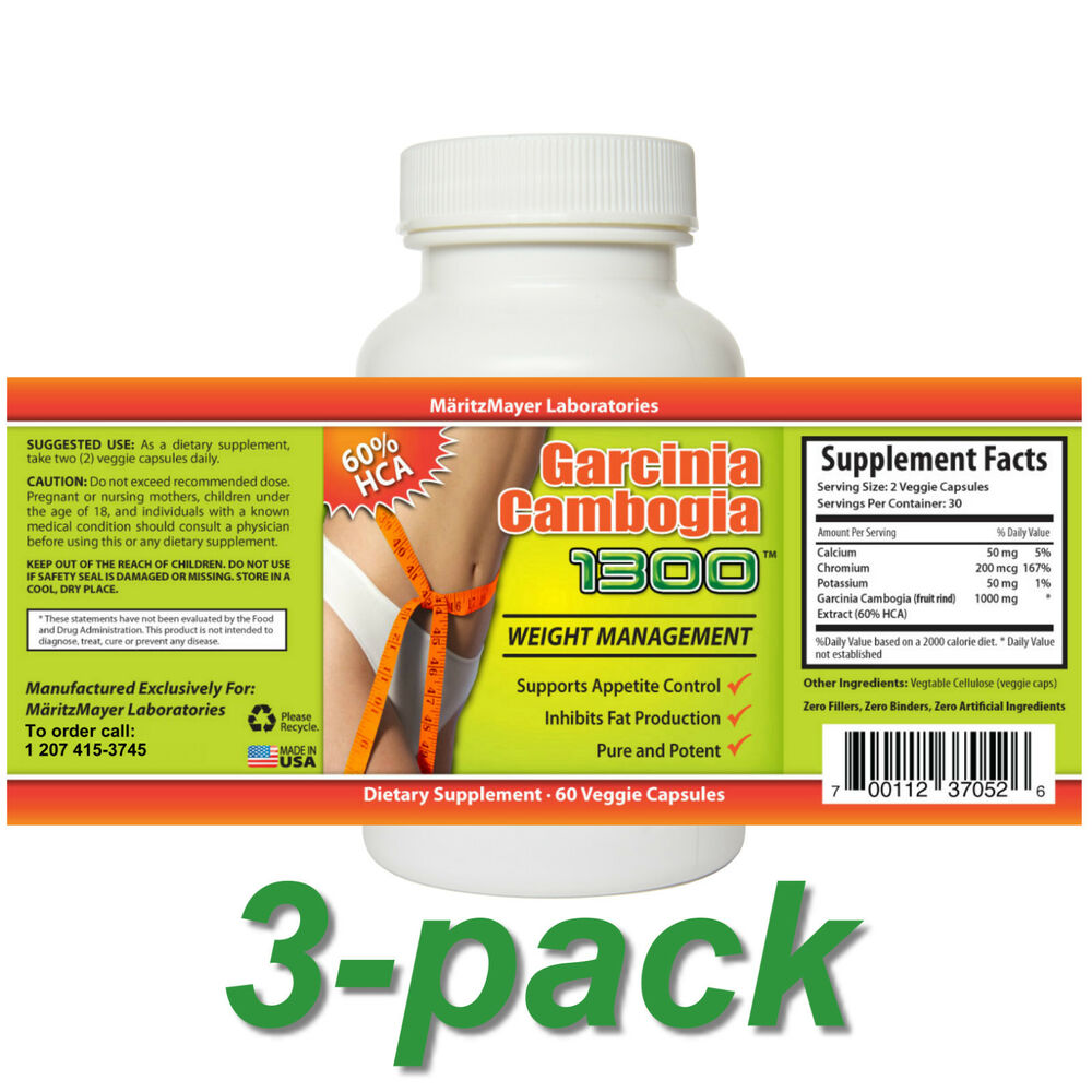 garcinia cambogia 1300 extract with 60 hca review