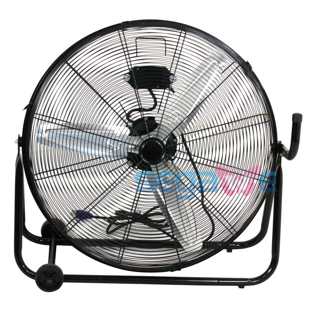 Commercial Floor Fans : Speed adjustable high velocity quot floor fan heavy duty