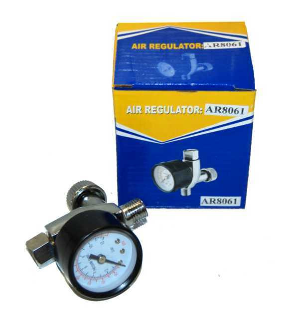 Hvlp Spray Gun Air Regulator Pressure Gauge Auto Paint Ebay