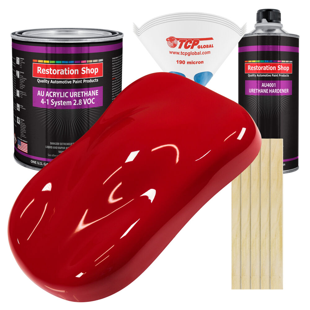Viper Red Gallon Kit Single Stage Acrylic Urethane Car
