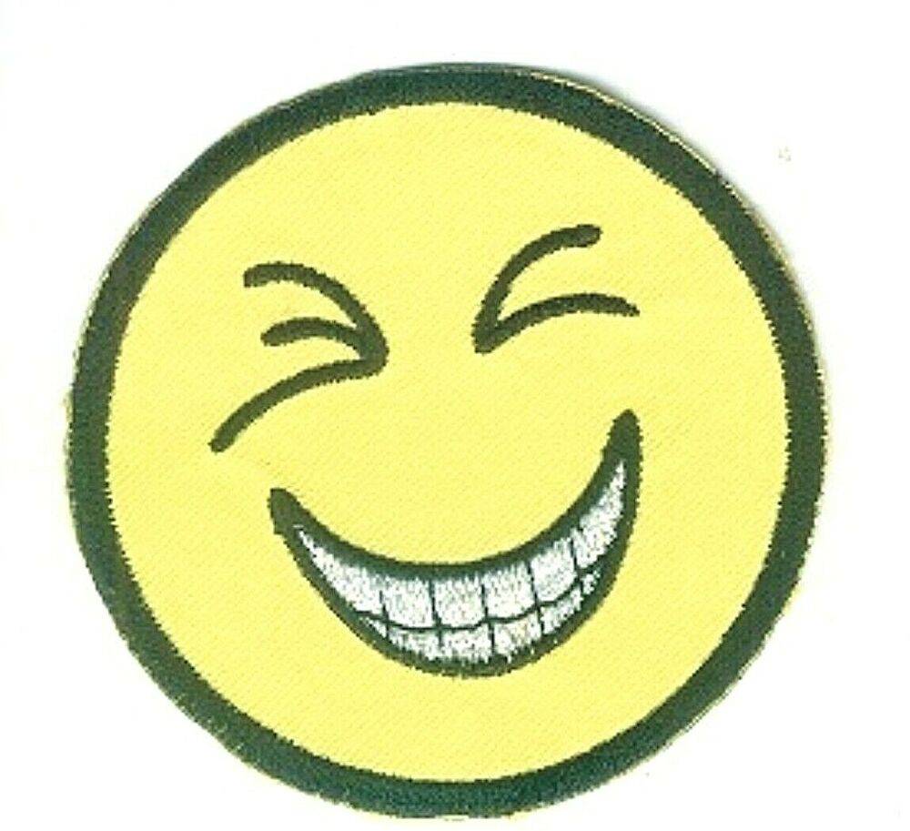 yellow cheese smile emoji emboji smiley face embroidery patch ebay