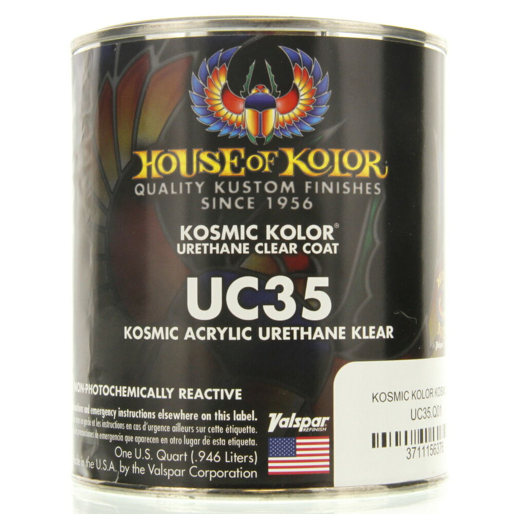 1 Quart Kosmic Acrylic Urethane Klear House Of Kolor Hok Uc35 Topcoat Clear Ebay