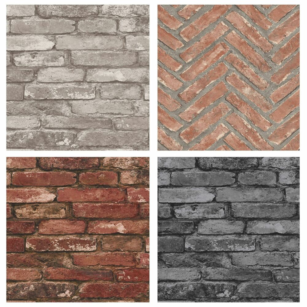 rustic wall decor decor rustic brick effect wallpapers feature wall 29895