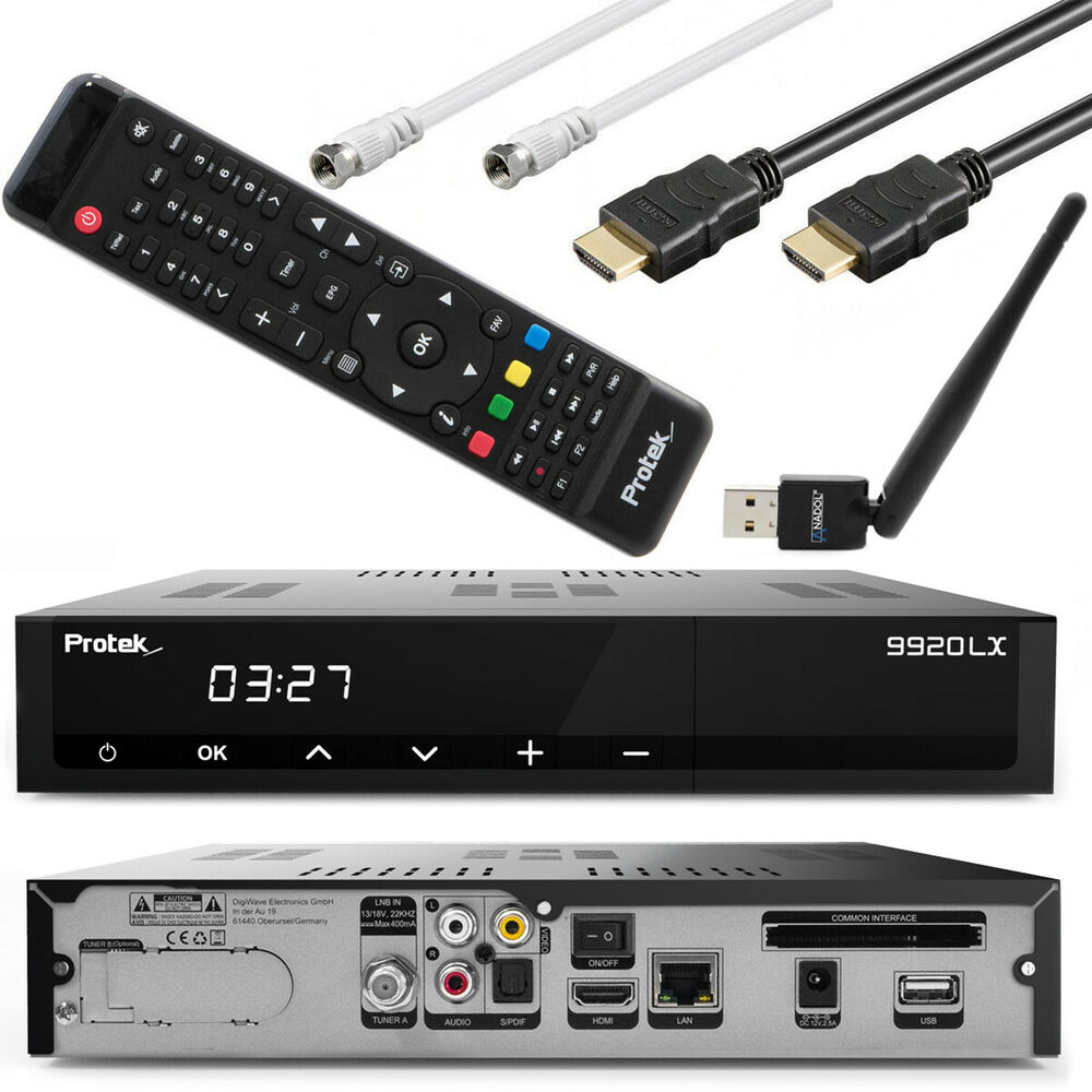 protek 9911 lx hd ip hdtv sat receiver hdmi kabel wlan stick wifi e2 9770 ebay. Black Bedroom Furniture Sets. Home Design Ideas