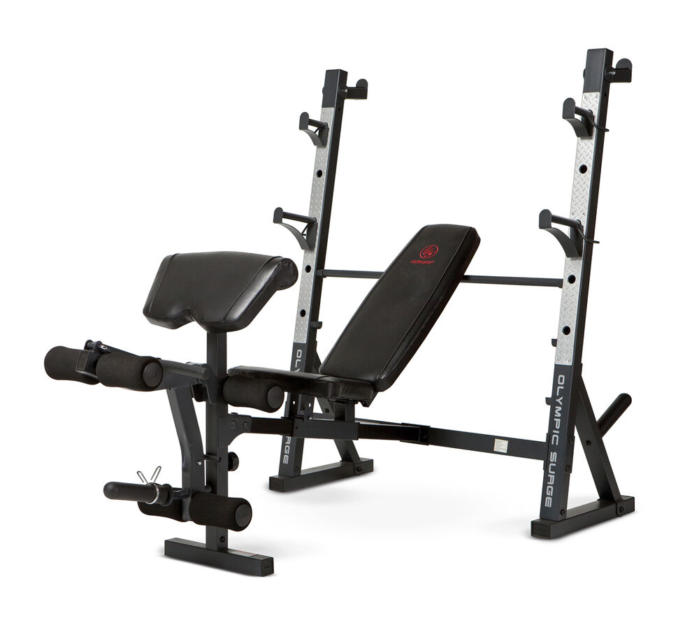 Marcy Diamond Olympic Surge Multipurpose Home Gym Workout Weight Bench Md857 Ebay