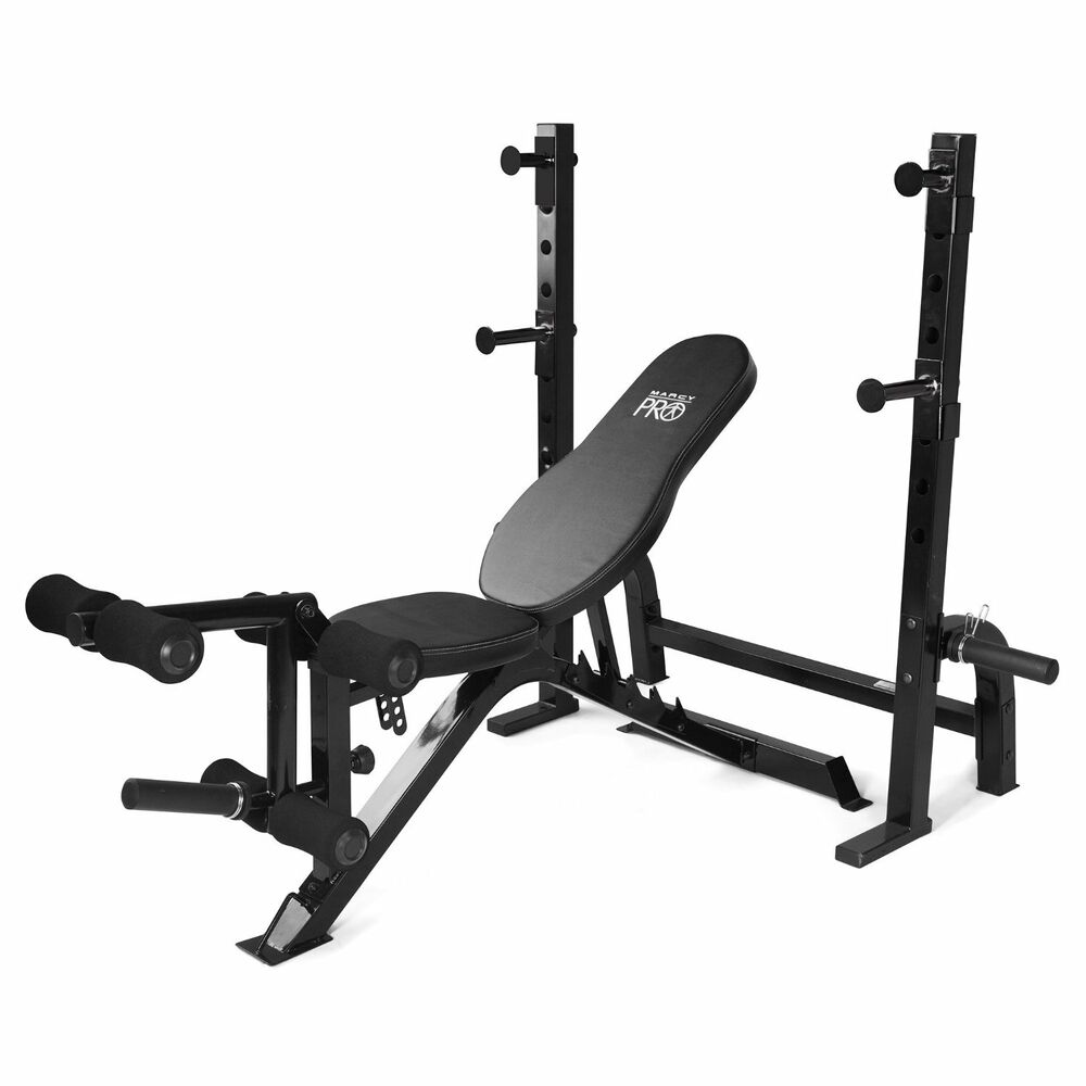 Marcy Olympic Multipurpose Home Gym Workout Weight Bench And Rack Pm 70210 Ebay