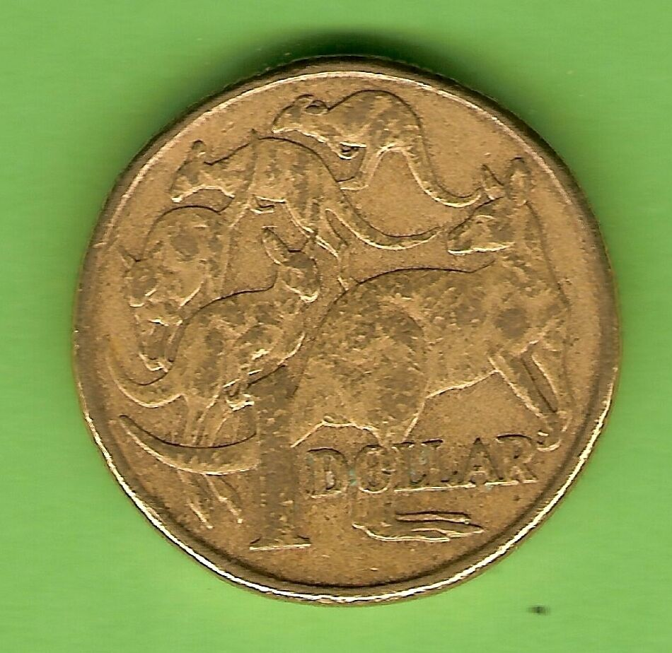 C17 1994 Rabbit Ears Kangaroo Error Australian 1 Coin
