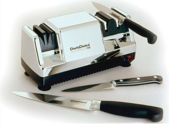 chef 39 s choice hone diamond coated stainless steel electric knife sharpener ebay. Black Bedroom Furniture Sets. Home Design Ideas