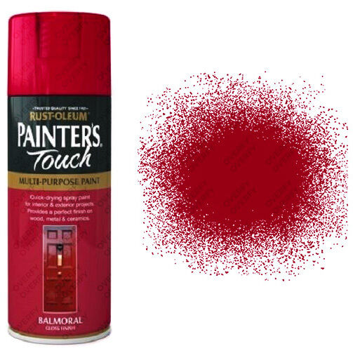 X2 Rust Oleum Painters Touch Multi Purpose Spray Paint Balmoral Red