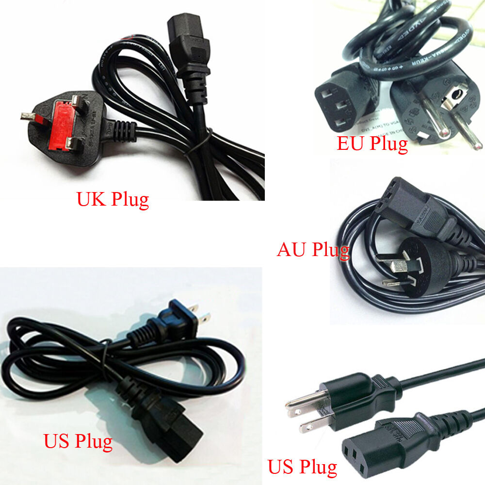 Plug In Cord : Hot extension eu us uk au plug cable cord for ac power