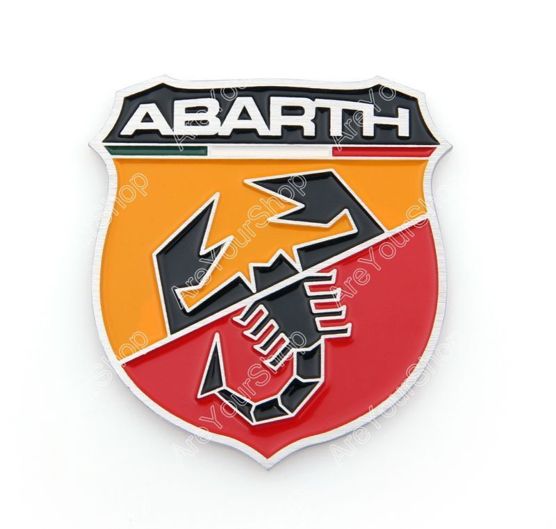3d Car Aluminum Emblem Badge Sticker Decal Abarth Shield