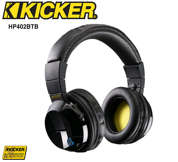 kicker hp402bt tabor black over the ear wireless bluetooth headphones ebay. Black Bedroom Furniture Sets. Home Design Ideas