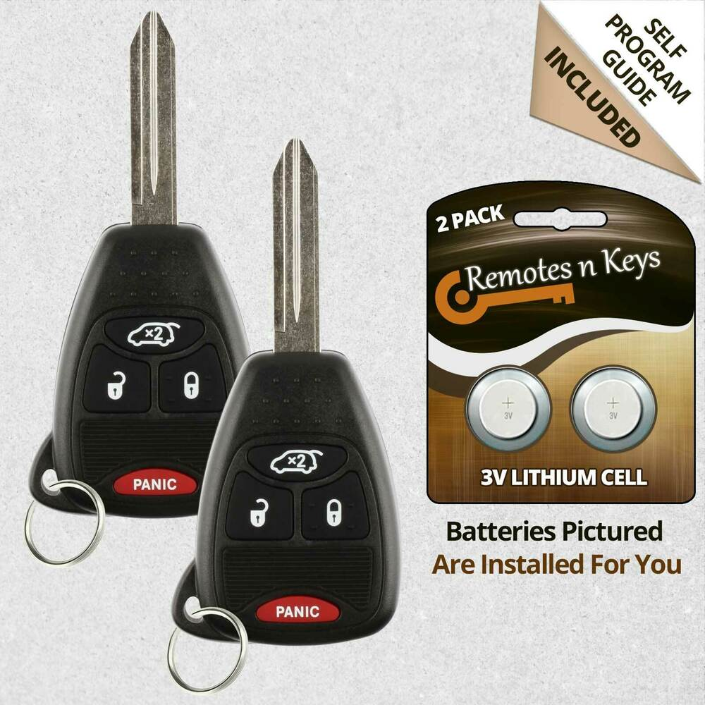 2 New Replacement Keyless Remote Car Key Fob For Jeep
