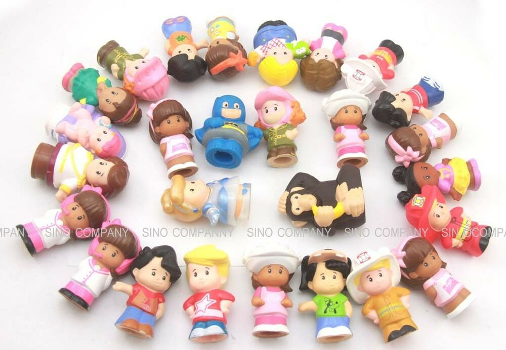 random 10pcs baby kids gift fisher price little people 2in figures toys dolls ebay. Black Bedroom Furniture Sets. Home Design Ideas