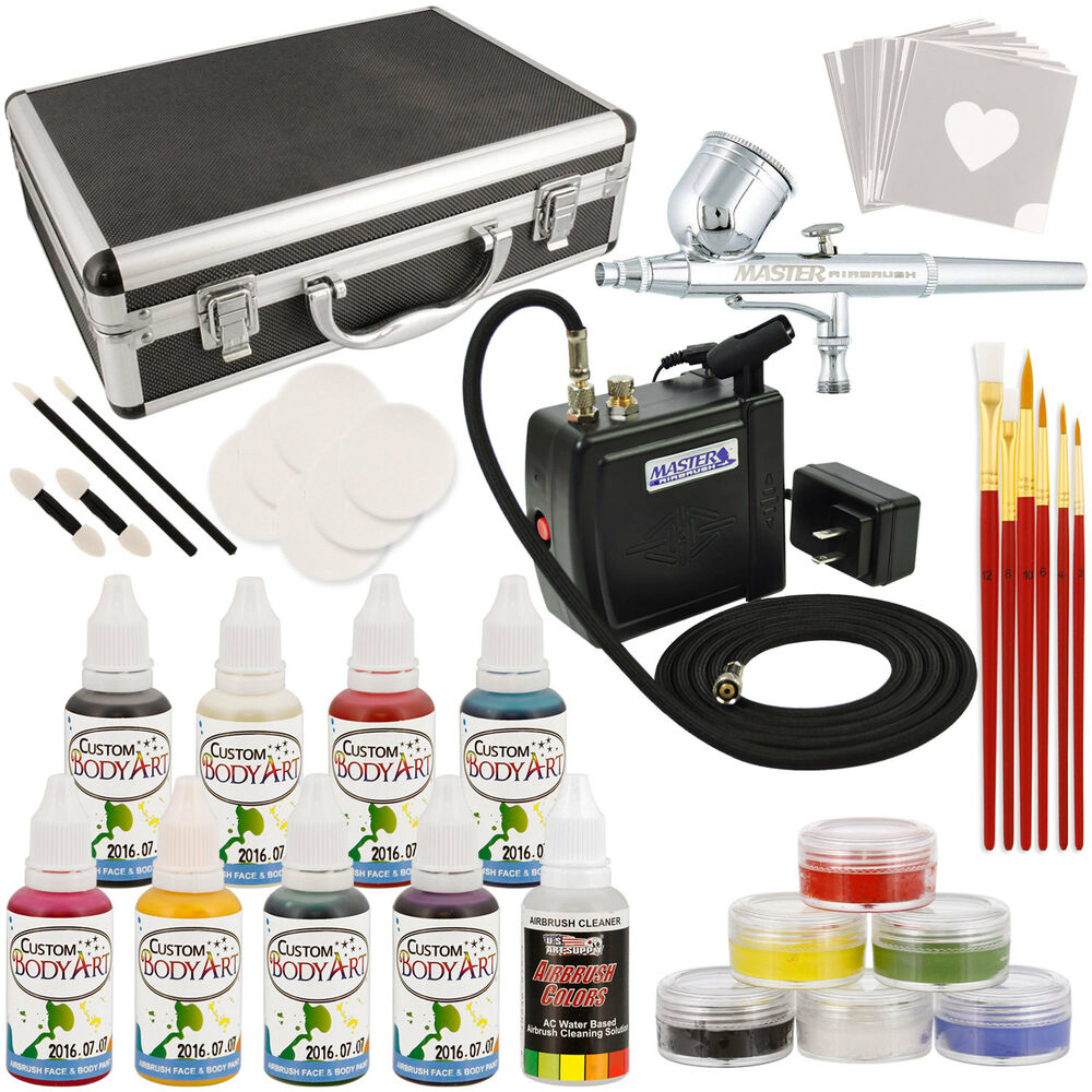 Master Deluxe Face And Body Painting Kit W 16 Water Based