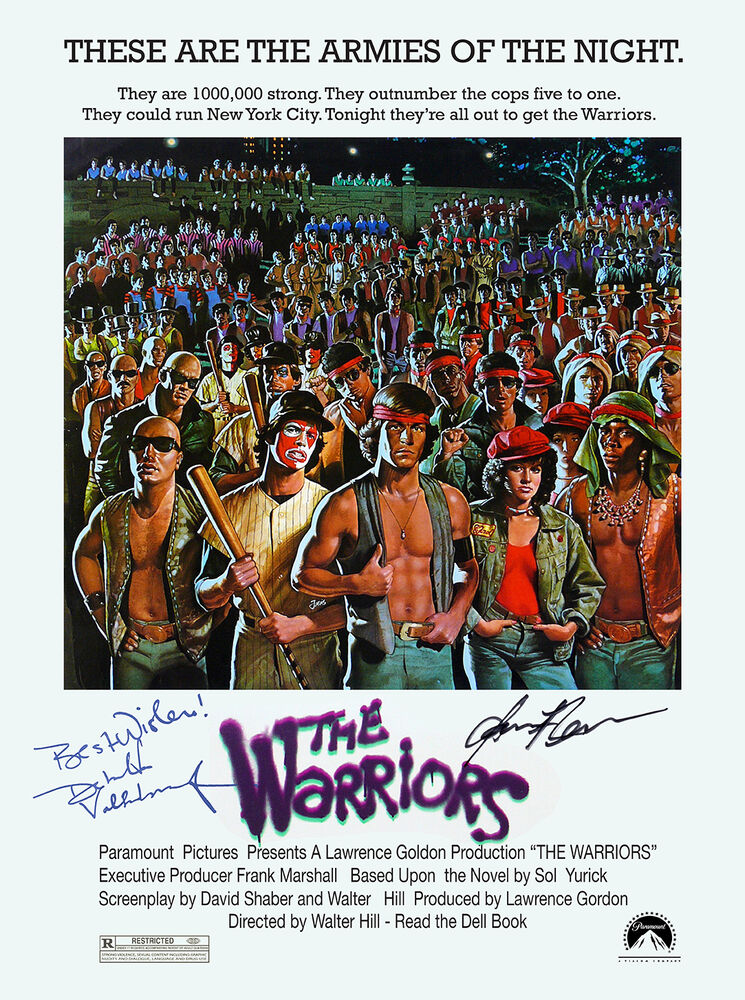 THE WARRIORS AUTOGRAPH MOVIE POSTER A2 594 x 420mm (Very ...