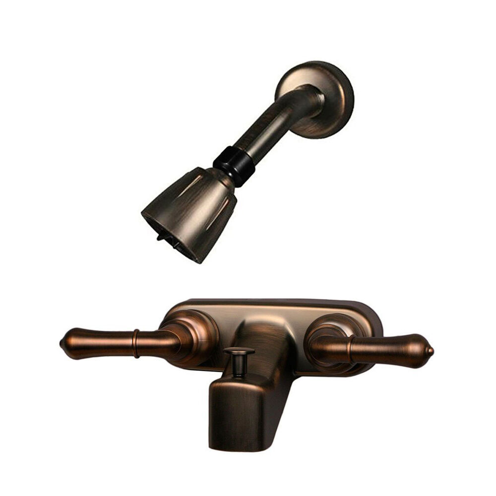 RV / Mobile Home Tub Shower Faucet And Shower Head Travel, Oil Rubbed Bronze