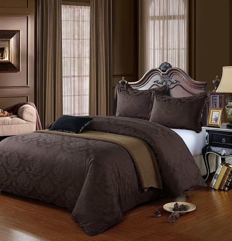 Chocolate Brown King Size Egyptian Cotton 500 Thread Count