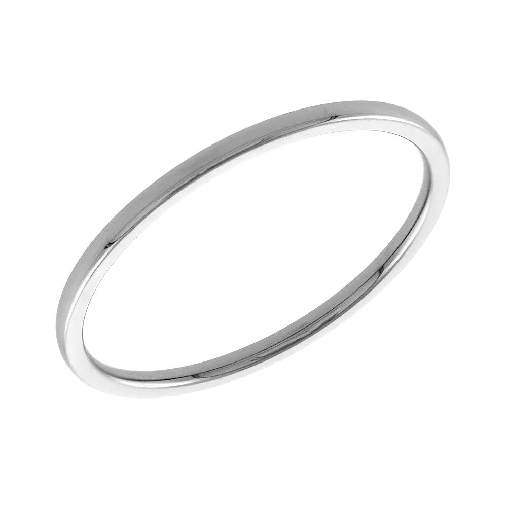 Stainless Steel 1mm Flat Plain Band Ring Fr379 Ebay