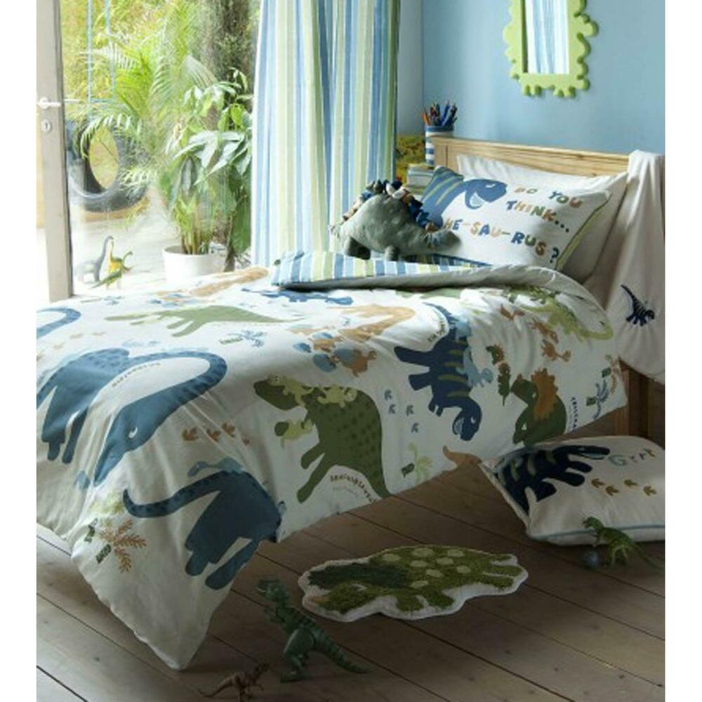 Catherine Lansfield Bedroom Range Dinosaur Bedding Wall