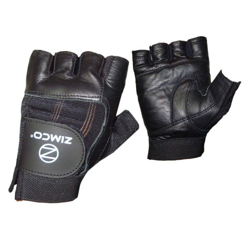 Black Leather Weight Lifting Workout Gloves: Zimco Real Leather Heavy Duty Weight Lifting Gloves