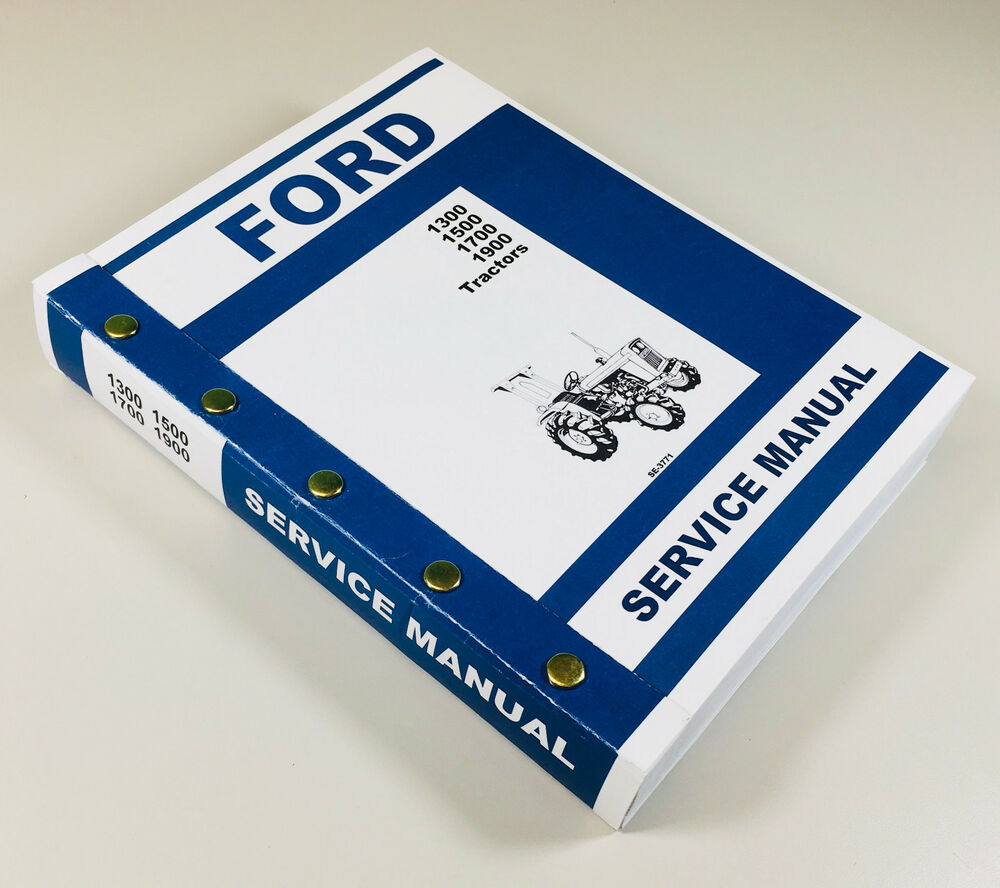 Ford 1300 1500 1700 1900 Tractor Service Repair Shop