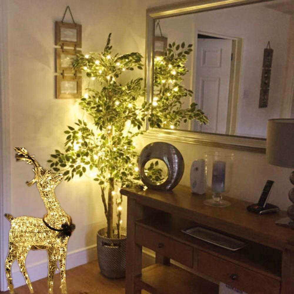 String Lights In Bedroom: 10M 100LED Indoor WARM Yellow Bedroom Fairy Light US Plug
