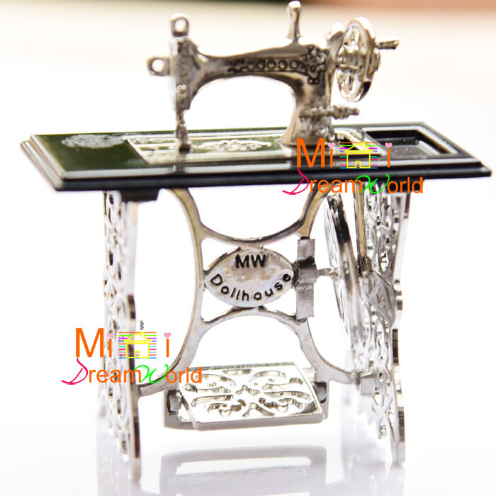 Quality Metal Sewing Machine Sewing Table 1:12 Dollhouse