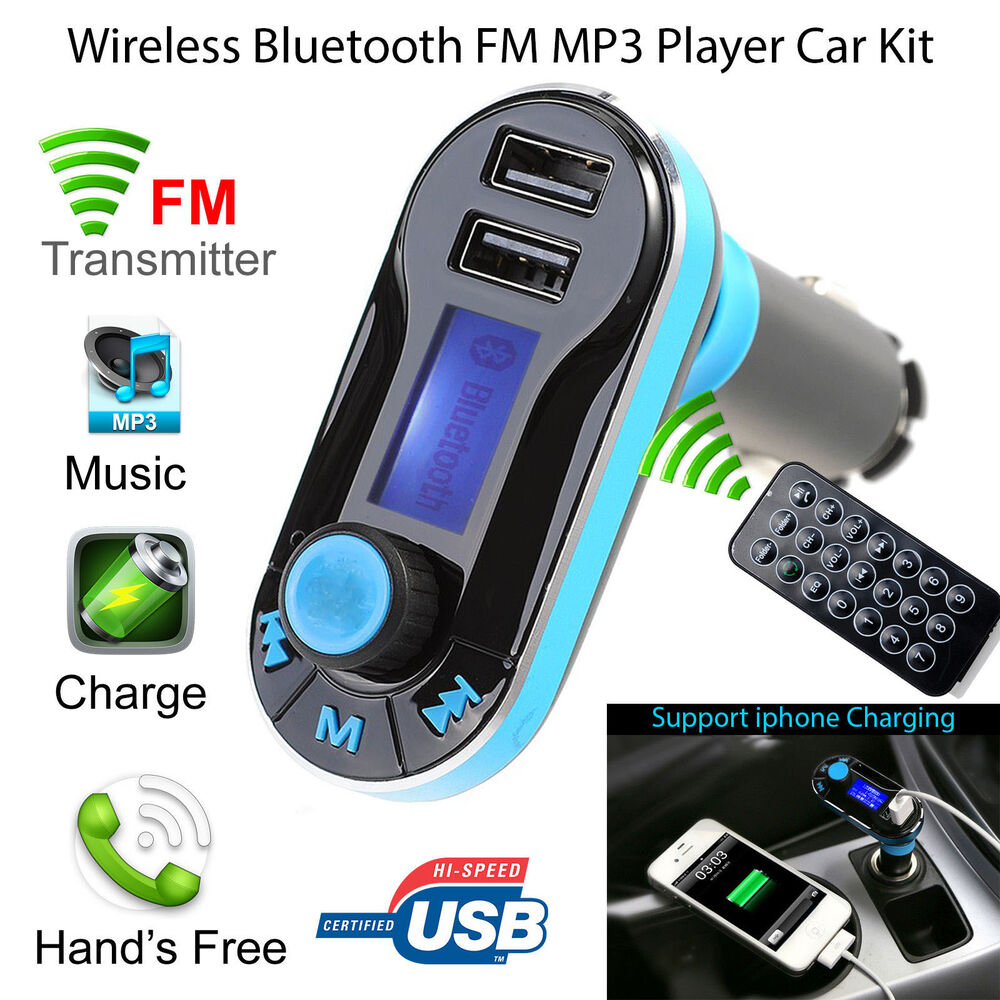 wireless bluetooth car fm transmitter mp3 radio player. Black Bedroom Furniture Sets. Home Design Ideas