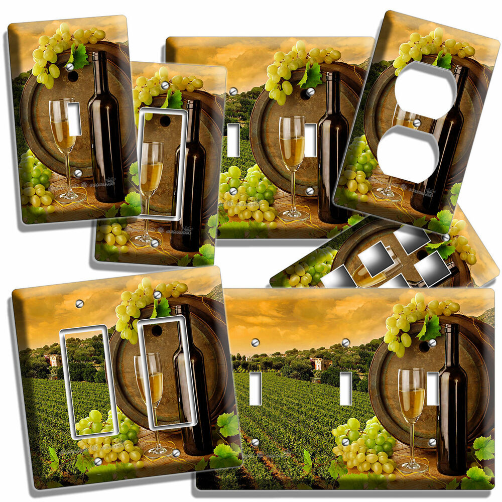 TUSCAN VINEYARD WINE GRAPES LIGHT SWITCH WALL PLATE OUTLET