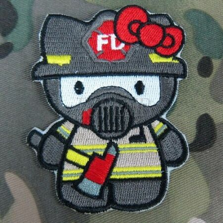 img-Tactics Kitty Morale Embroidery Patch Halo Fire Fighter ONE PIECE Optimus