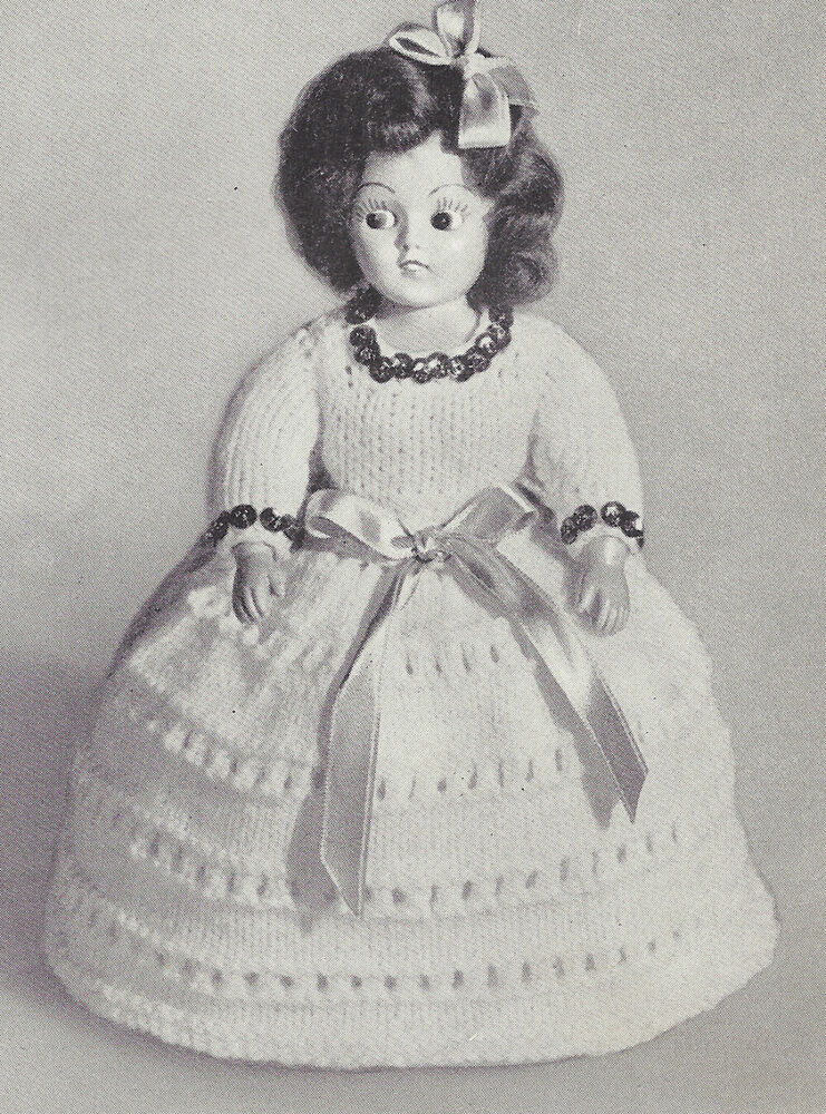 Old Knitting Pictures : Vintage knitting pattern to make inch doll clothes