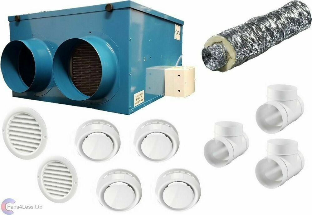 Cflo250 Heat Recovery Ventilation Condensation 1 To 12 Rooms Complete Kit Ebay