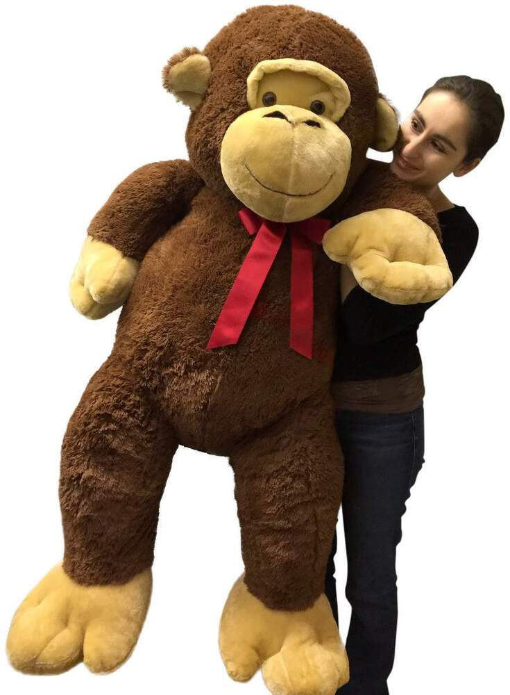 giant stuffed monkey 5 feet tall soft brown large plush animal 60 inches new ebay. Black Bedroom Furniture Sets. Home Design Ideas