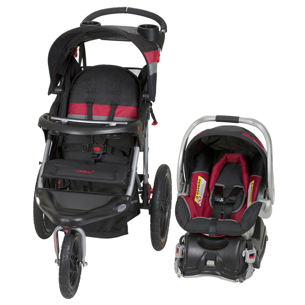 baby trend range travel system folding jogging stroller spartan tj99106 ebay. Black Bedroom Furniture Sets. Home Design Ideas