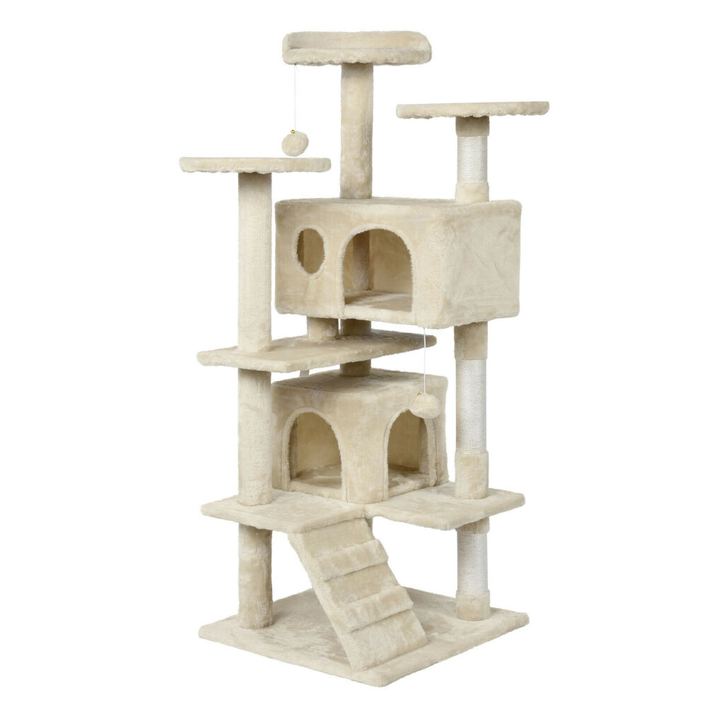 Furniture With Free Shipping: Cat Tree Furniture Kitten House Play Tower Scratcher 51