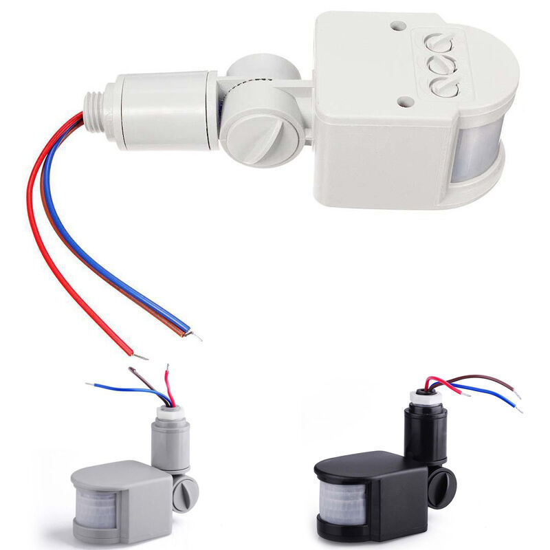 LED Security PIR Infrared Motion RF Sensor Detector For Outdoor Wall Lamp NEW eBay