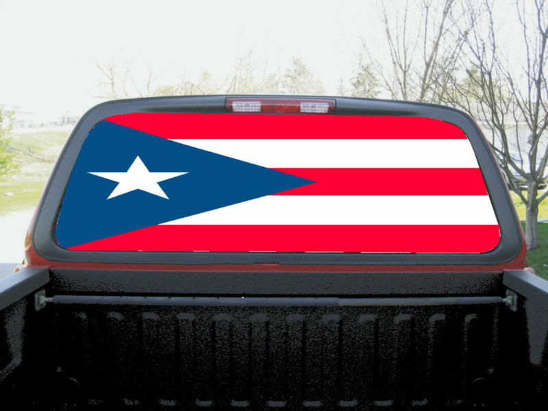 Puerto Rico Flag Full Rear Window Graphics Decal Tint Ebay