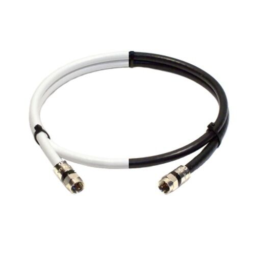 rg6 coax 3 ft coaxial jumper cable for satellite tv antenna in black or white ebay